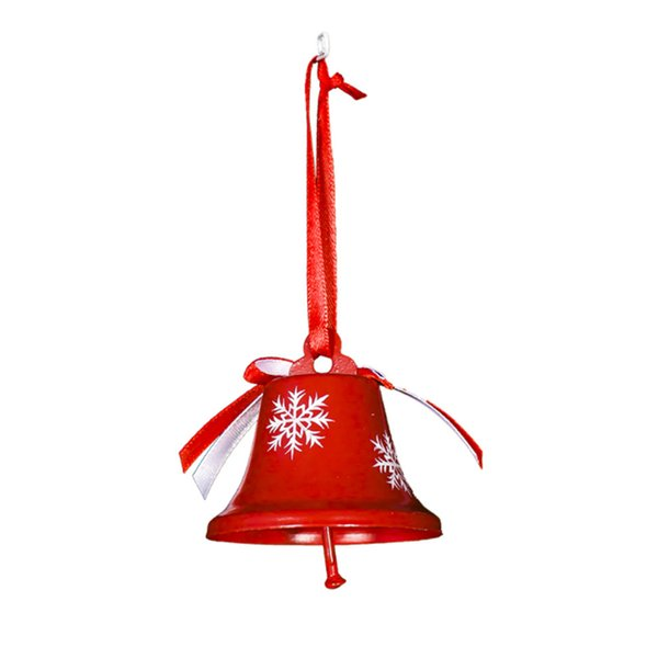 Décorations de Noël danois Painted Tin cloche de Noël Pendentif Trois ensembles d'arbres Pendentifs