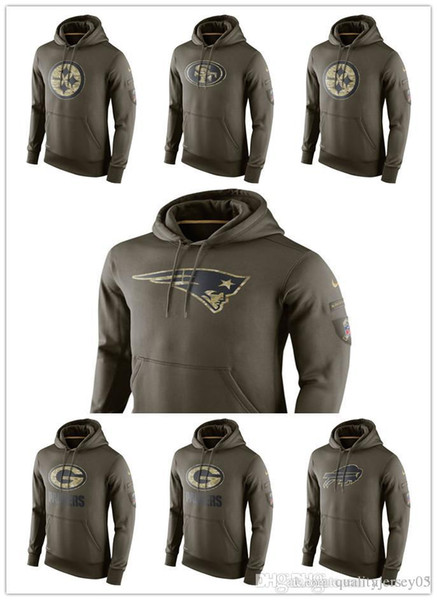new concept 4ce48 f44d6 2019 Texans Browns Packers Patriots 49ers Steelers Admiral Army Green  Sweater Pullover Hoodie From Customjersey03, $23.69 | DHgate.Com