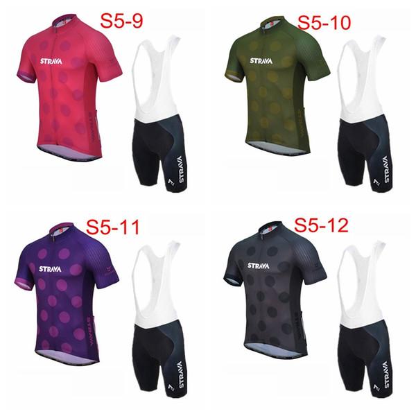 STRAVA équipe cyclisme manches courtes en jersey cuissard ensembles respirant manches courtes VTT VTT Maillot Vêtements de vélo femmes H71541
