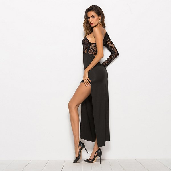 Mulheres rendas sexy preto ver através do salão de baile latin rumba tango pista noite show de dança dança desgaste vestido vestido robe traje saia sk1