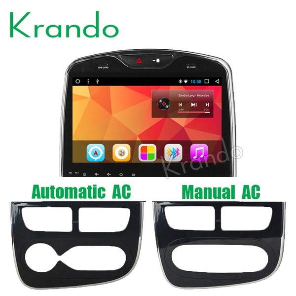 "Krando Android 8.0"" Full touch Big screen car DVD multimedia system for Renault Clio 2013-2018 GPS navigation player radio BT wifi KD-HY940"