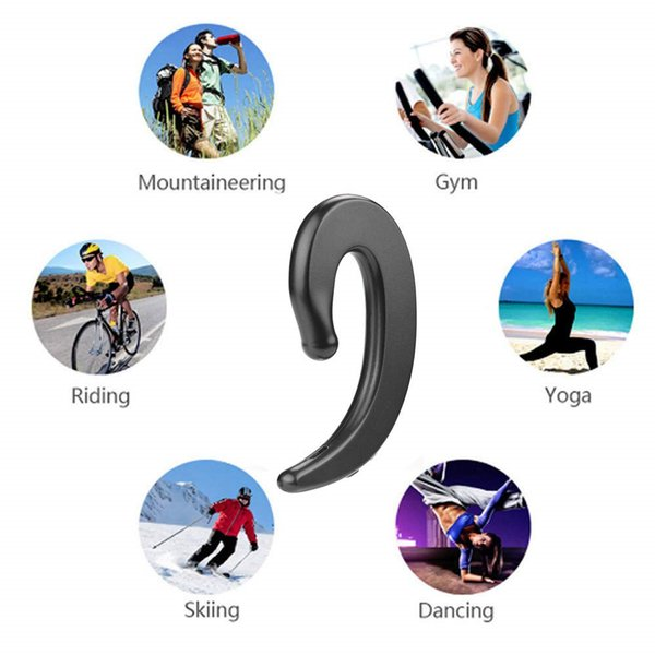 Bone Conduction Earphone Bluetooth Wireless Earbud Sports Ear Hook Headphones Business Handfree Headset Fashion Gift for Friends