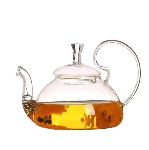 New Coffe Pot Heat Resistant Teapot Glass Transparent Tea Pot Water Kettle with Infuser Tea Leaf Herbal Coffee Kitchen Accessories