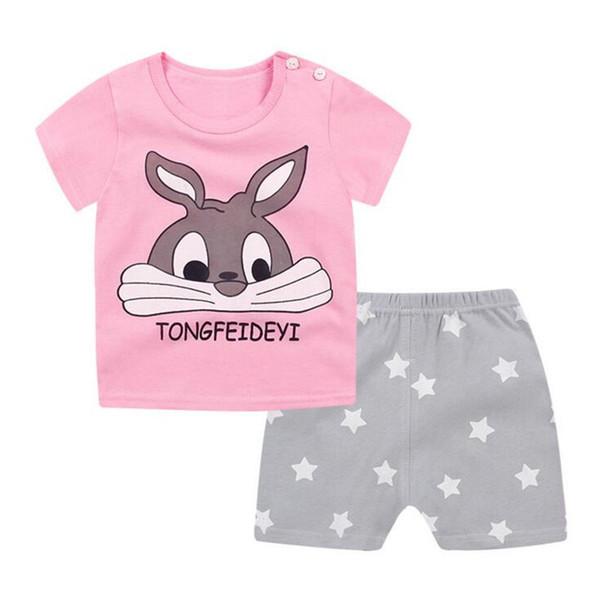 Хлопок детские детские наборы досуг спорт мальчик девочка футболка + шорты наборы малыш одежда Девочка Мальчик одежда