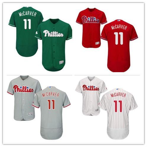 2019 Phillies Jerseys # 11 Tim McCarver Jerseys homens # WOMEN # JUVENTUDE # Men's Baseball Jersey Majestic Costurado Profissional sportswear