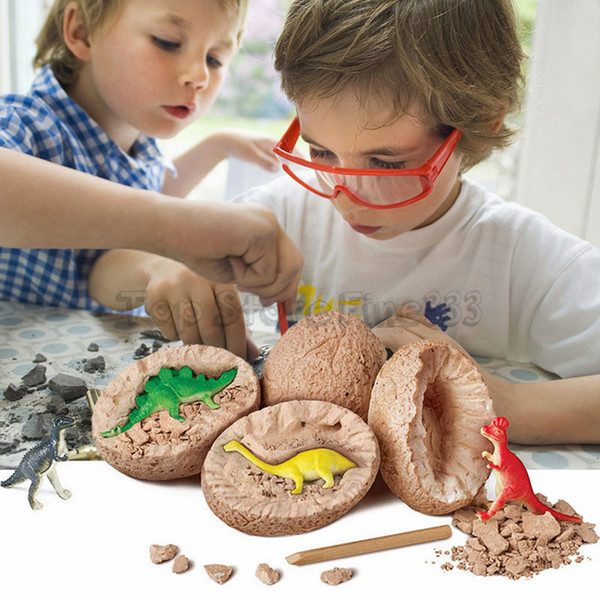 DIY Dinosaur Egg Toys Novelty Digging Fossils Excavation Toys Kids Learning Educational Party Funny Gifts Toy for Girl Boy