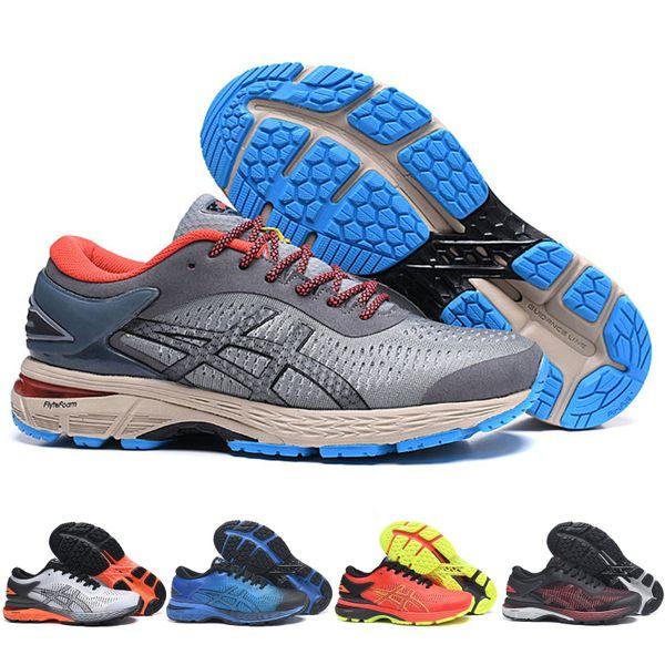 e10a6c59 2019 Asics GEL KAYANO 25 Cushioning Running Shoes balck orange Weaves Vamp  Original Men Women Designer Sport Sneakers 40-45