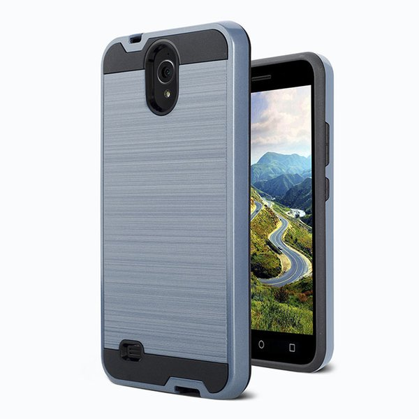 Armor Hybrid Brushed Case For MOTO G7 LG Aristo 3 k30 stylo 4 TPU PC Cheap good quality case oppbag