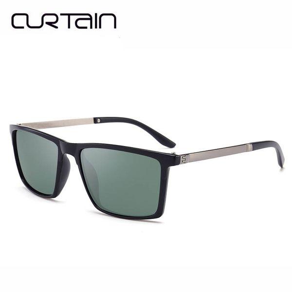 CURTAIN Classic Sunglasses Men Brand Designer Sun Glasses Reflective Coating Square Spied Women Rectangle Eyewear gafas de sol