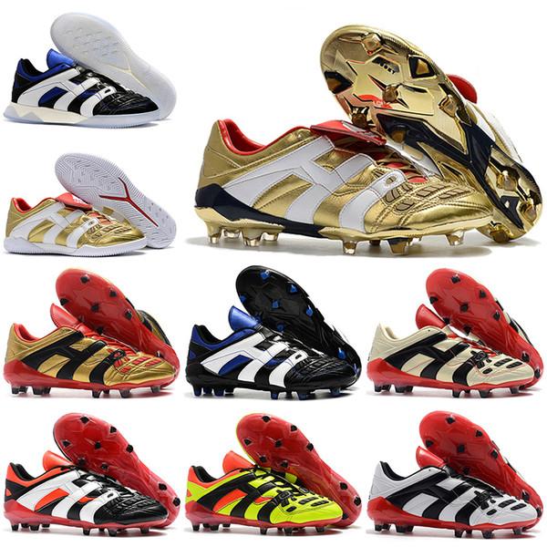 eab322c173 Botas altas de fútbol para hombre Botines de fútbol Predator Acelerador  Electricidad Zapatos de fútbol FG