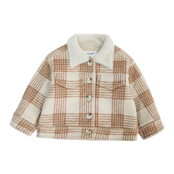 New 2019 kids winter coats girls coat woolen kids coat fashion girls jacket kids overcoat children outwear baby coats retail A8980