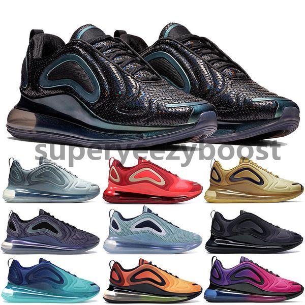 Высочайшее качество 720 кроссовок полное затмение закат северное сияние день Night Be True мужские женские неоновые с возвратом будущие дизайнерские кроссовки