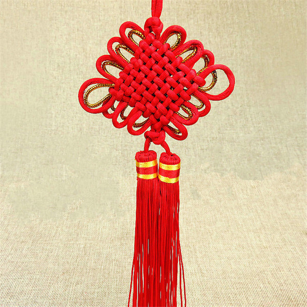 10 unids / lote nudo chino rojo colgante afortunado festivo decoración del hogar regalo del arte para los ornamentos del coche accesorios colgantes venta al por mayor envío gratuito