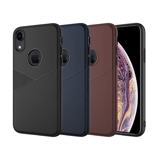 Hybrid Slim Soft TPU Silicone Business Leather Case For iPhone X XR XS Max 8 7 6 Samsung J8 2018 J4 J6 Plus S10 Lite J2 Core J5 Prime J7 Duo
