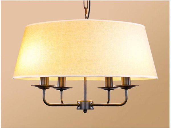 Fabric Drum Shade Pendant Lamp Ceiling Home Suspension Pendant Light China atmosphere room lighting Bedroom ceiling E020