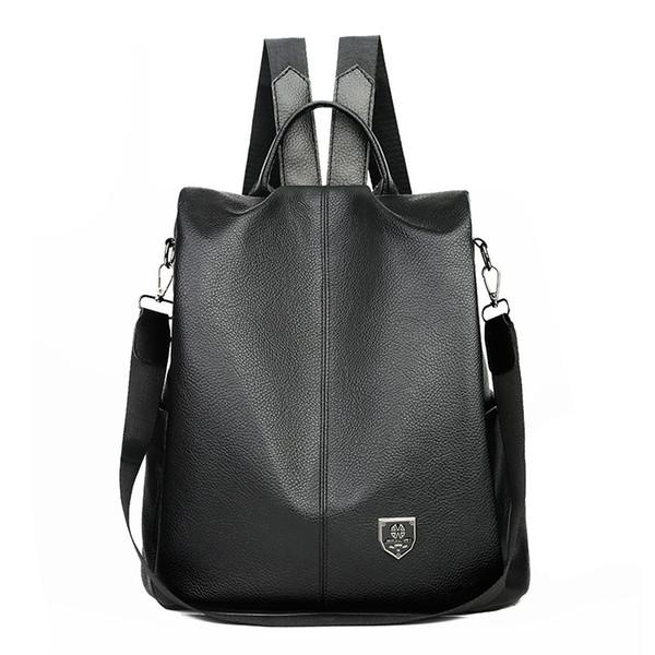 Multifunction Women Backpack PU Leather Shoulder Bag Large Capacity Backpacks Outdoor Travel Storage Bags Waterproof School Bag Knapsack