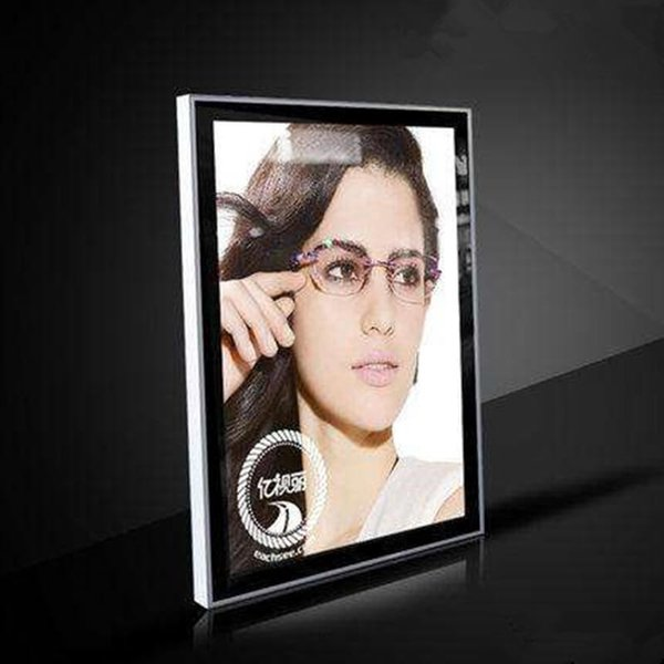60*90cm Wall Mount Edge-lit Magnetic Light Box Advertising Display Sign Featuring 42mm Thickness Aluminum Frame with Wooden Case Packing