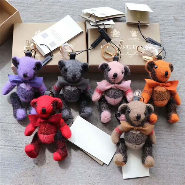 Europe and the United States fashion high quality cartoon bear car key chain bag accessories with packaging box