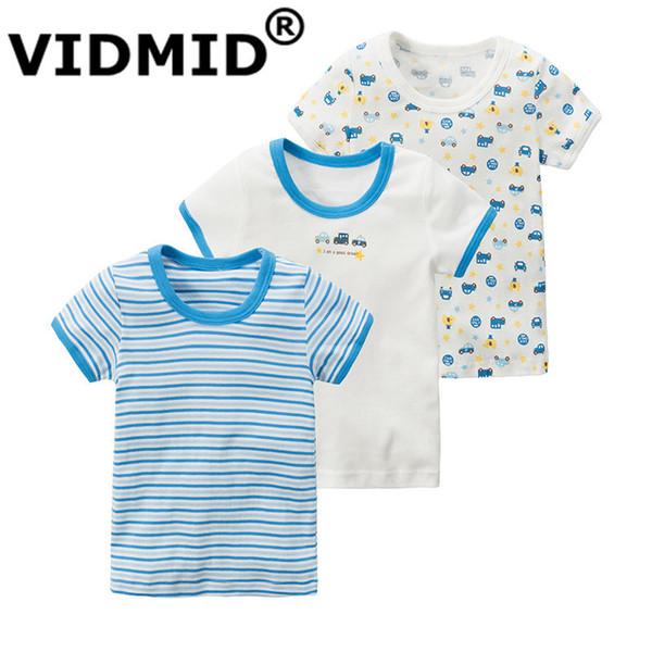 Vidmid Yeni T-shirt Çocuk Bebek Erkek Marka T-Shirt Çocuk Tees Kısa Kollu Pamuk Yaz Çapa Otomobil Giyim 4003 J190529