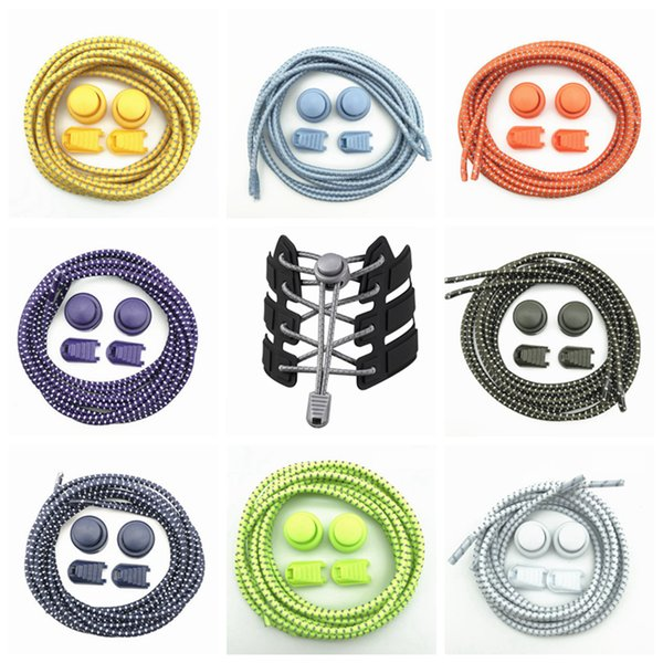 Outdoor Sport Shoelaces Lazy Person Reflective Light Colorful Elastic Band 3mm Elastic Rope Sports Shoes Shoelaces ZZA784