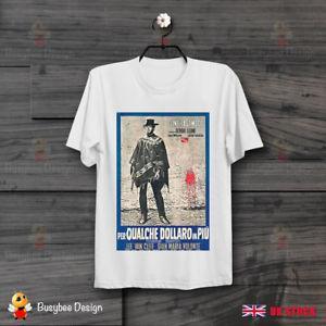 Pour quelques dollars de plus Italienne des années 60 film Vintage Poster Cool T Shirt B293