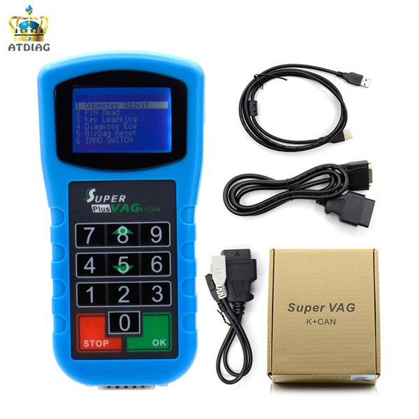 2018 New Arrival Super VAG K CAN Plus 2.0 Diagnosis Mileage Correction Pin Code Reader Super VAG K+CAN Plus 2.0 High Quality