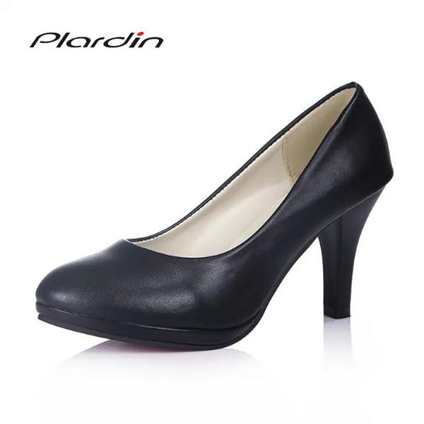 Shoes Plardin Woman Pumps Cross-tied Ankle Strap Wedding Party Platform Fashion Women High Heels Suede Ladies