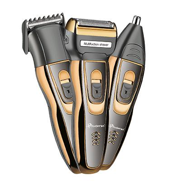 3in1 Rechargeable Foil Electric Shaver Beard Trimmer Stubble Shaving Machine Electric Razor For Men Facial Trimer Nose Trimmer T9190617