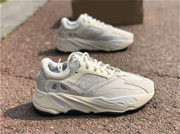2019 Auténtico 700 V2 Analógico EG7596 Kanye West Zapatos al aire libre Hombres Mujeres Runner Wave Sal Malva Estática Inercia Geode Zapatillas Con OG Box