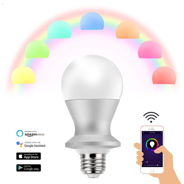 E27 Cold White+Warm White Voice Control Dimmable Smart Home 900LM Tuya  Alexa Color Smart Led Light Bulb Led Night Light Bulb Dimmable Light Bulbs  From