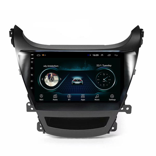 Android Auto System Sprache Mutil-Touchscreen gute Bluetooth HD1080 Display Auflösung 1024 * 600 USB für Hyundai Elantra 2014 9 Zoll