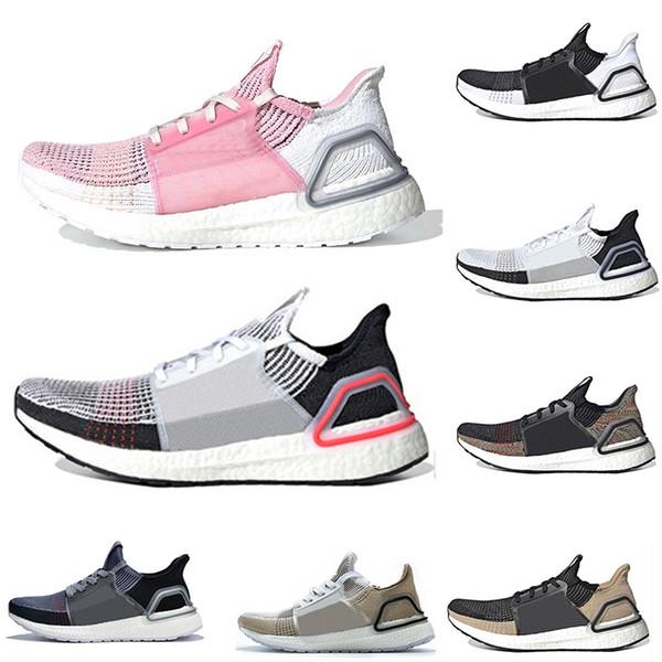 Alta calidad 2019 Ultra Boost 19 de láser rojo Refract Oreo para hombre zapatillas deportivas para los hombres Las mujeres UltraBoost UB 5.0 Deportes zapatilla de deporte 36-45 diseñador de euros