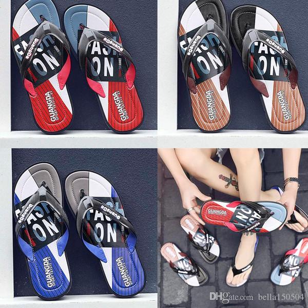 good quality designers Sandal Slippers blue Red black Stripe Design Men Women Classic Ladies Summer Outdoor beach Flip Flops