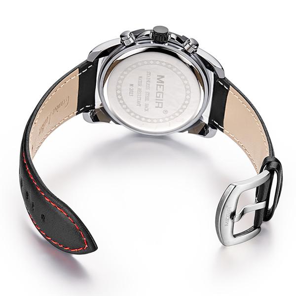 BRW Top Brand Fashion Business Quartz Watch Men Auto Date Sport Chronograph Wrist watches Leather Strap Man Relojes Hombre