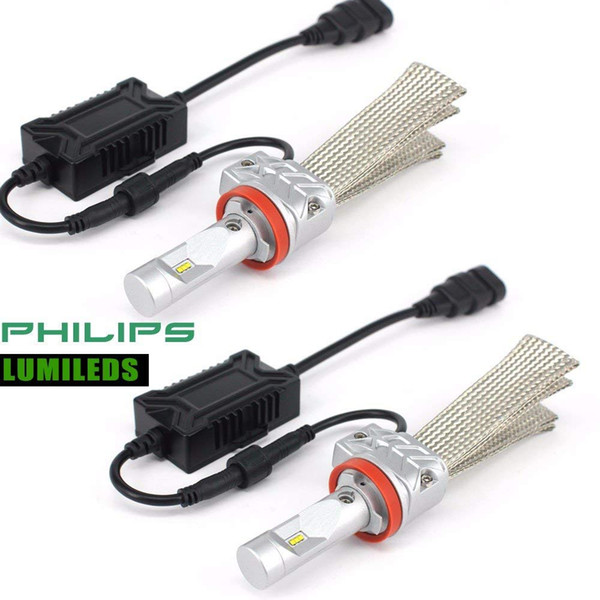 H7 LED H4 2PCS 55W 12000Lm 12V Car Headlights H11 9005 9006 9004 9007 H9 H10 9012 Cars Led Lighting Replacement Bulbs Fanless