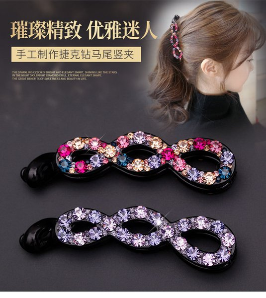 New Clamps Hair Jewerly full Diamond Swarovski Vertical Banana Hair Clips Claws Luxury New Design Crystal Rhinestone Clips Free DHL