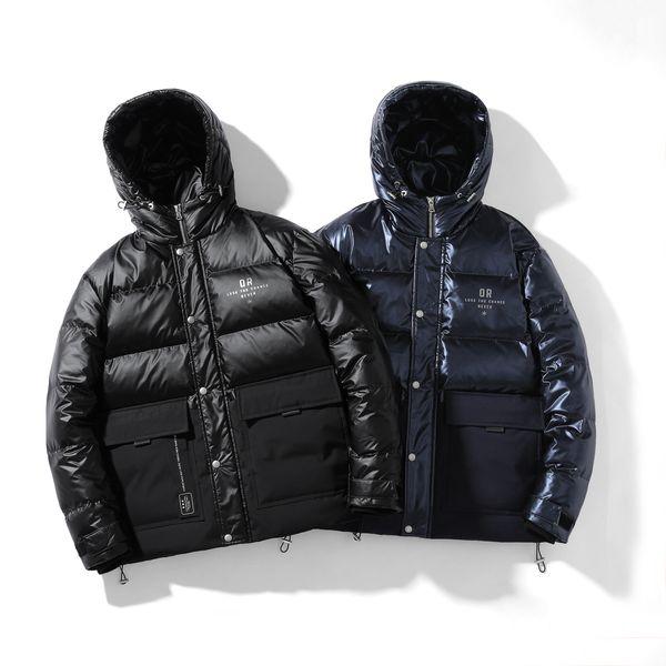 2019 Erkek Tasarımcı Ceket Kış Coat Kalın WINDBREAKER Marka Coat Fermuar Aşağı Ceket Açık Spor Ceketler Plus Size ücretsiz kargo ZCM208