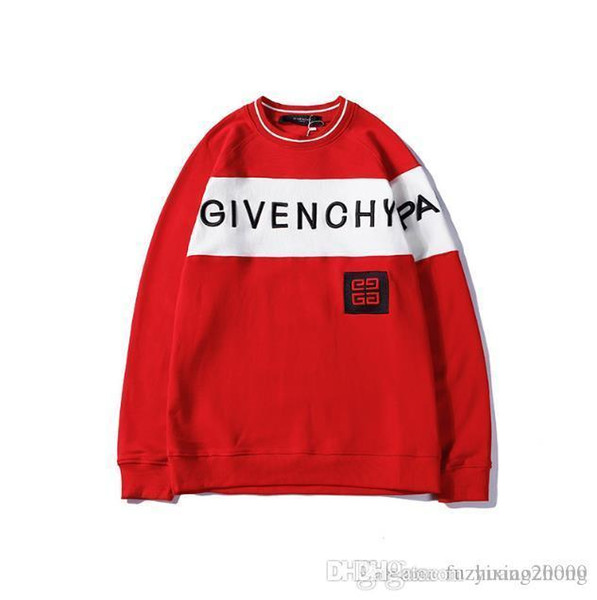 2019 new hot spring and autumn men and women with the trend of personality individual letters embroidery couple long-sleeved sweater x2230