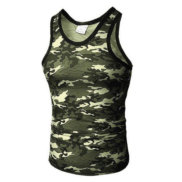 Fetong Tank Top 2019 Gym Kleidung Sommer Casual Slim Fit Sport Camouflage Elastic Short Tops Weste Männer Tank Tops Unterhemd
