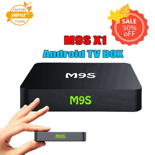 5 PCS wholesale M9S X1 Android 6.0 TV Box Amlogic S905X Quad Core 1GB 8GB Support 2.4G Wifi 4K Streaming Google Media Player DHL