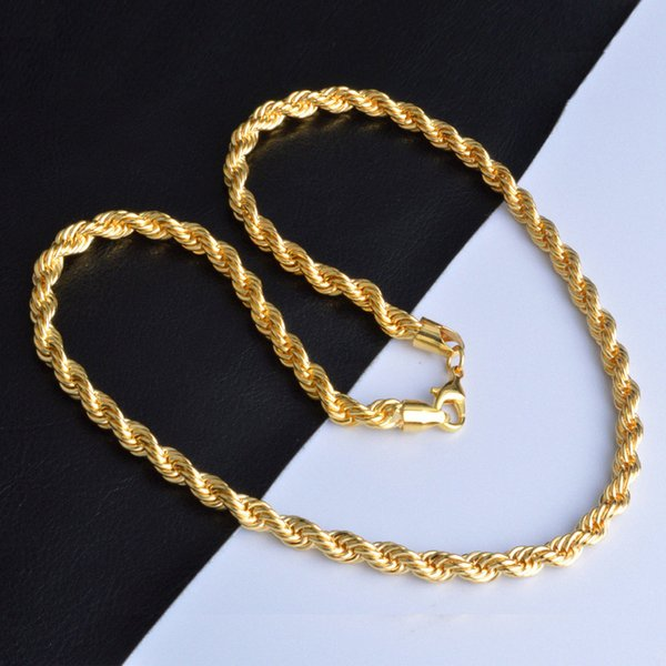 best selling Hip Hop 18K Gold Plated Necklace 22 inch