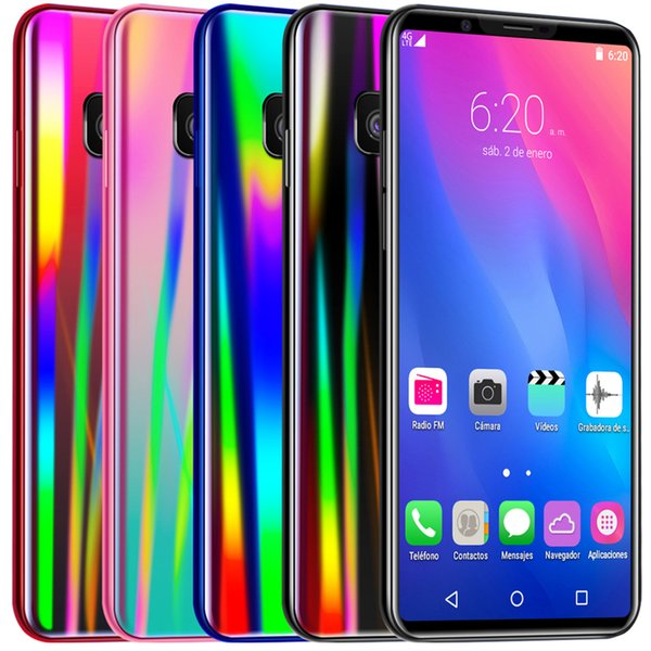 top popular 5.5Inch S10 S11 Real MTK6580M Quad Core Mobile Phone 1GB Ram 16GB ROM Real fingerprint Face recognition 5MP Camera Smart Phone Free Ship far 2020