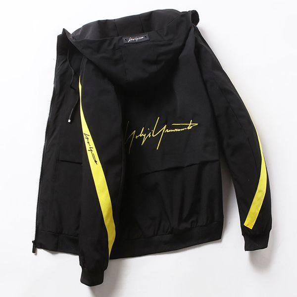 HCXY 2019 style coréen Veste Patchwork Vêtements Adolescents Jeunes Hommes à la mode Manteau Vestes Hommes Manteaux Col montant