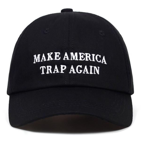 Yüksek Kaliteli Mektup AMERIKA TRAP YAPMAK YAPMAK Snapback Kap pamuk Beyzbol Şapkası Erkekler Kadınlar Için Ayarlanabilir Baba Şapka Hip Hop Şapka Kemik Garros