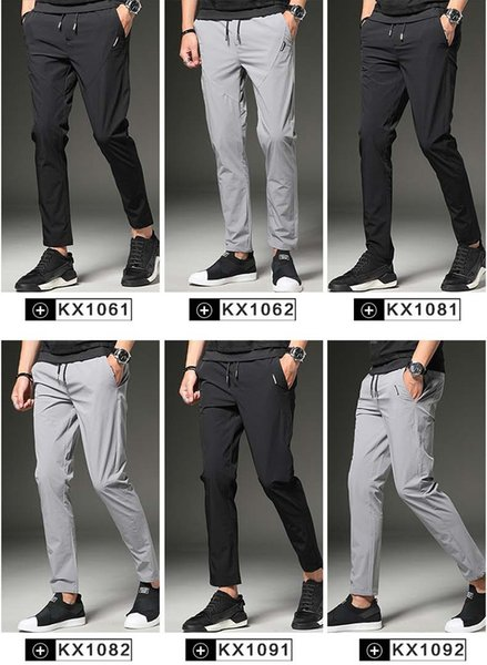 6 Styles Summer Wear Fashion Men Leisure Pants New Sports Straight Pants Slimming Youth Korean Trousers WY0013
