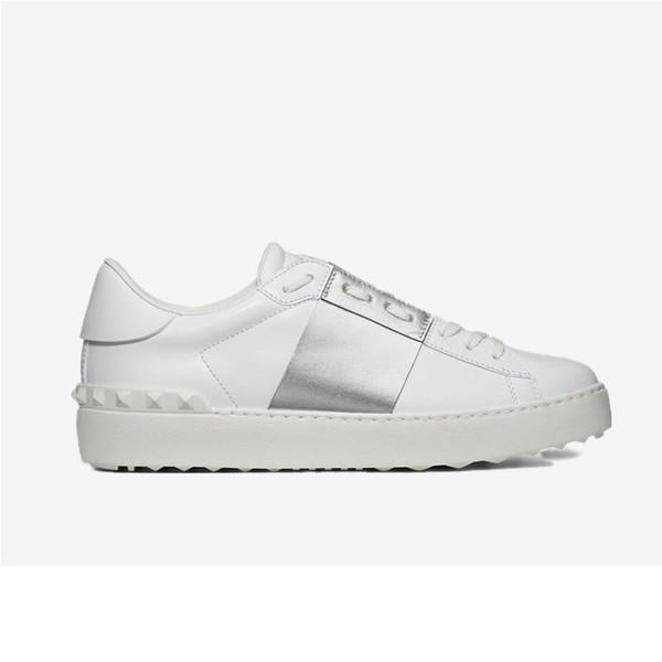 Yeni arrivel Tasarımcı Beyaz Moda Erkek Kadın Deri Rahat Açık Düşük Sneakers Ile Kutu 6dfsgs
