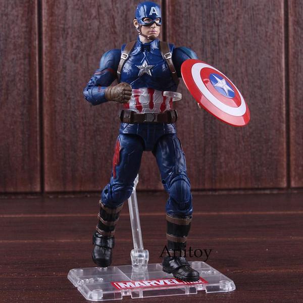 Marvel Kaptan Amerika 3 İç Savaşı Rakam Avengers Sıcak Oyuncaklar Kaptan Amerika Şekil Eylem PVC Koleksiyon Model Oyuncak