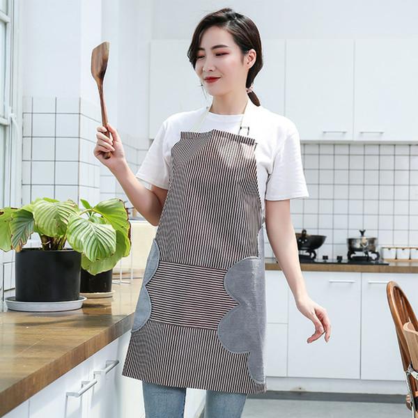 Heißes wasserdichtes Streifen-Küchen-Schutzblech, das justierbares hochwertiges Abwischen kocht, übergibt Taschen-Schürze, die Backen-Restaurant-Schürze kocht