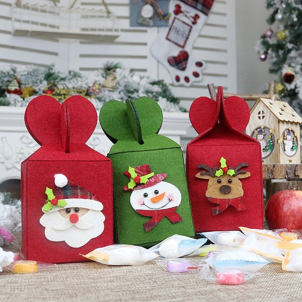 Folding Gift Bag Christmas Bag Suitable For Home Party Shop Decoration fruit apple candy bags