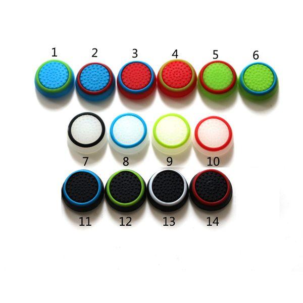 14 Couleurs Joystick Cover Pour PS3 / PS4 / XBOX ONE / XBOX 360 Contrôleur Caoutchouc Silicone Joystick Cap Manette Bouton Joystick Grip Caps